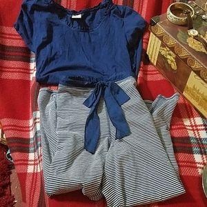 Sonoma beautiful navy blue and white pajamas